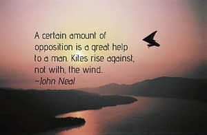 opposition is a great help
